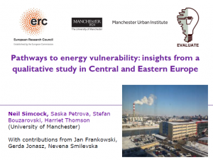 Presentation Pathways to energy vulnerability: insights from a qualitative study in Central and Eastern Europe