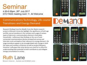 Ruth Lane seminar poster