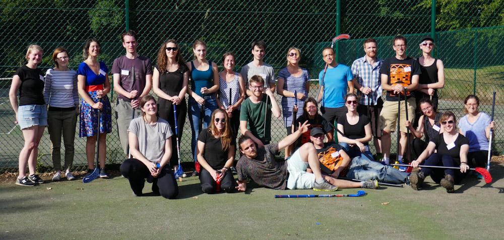 group shot floorball